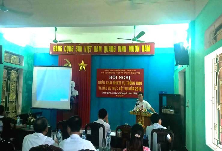 Đ/c Đỗ Hải Điền - Phó giám đốc Sở Nông nghiệp & PTNT phát biểu chỉ đạo Hội nghị.