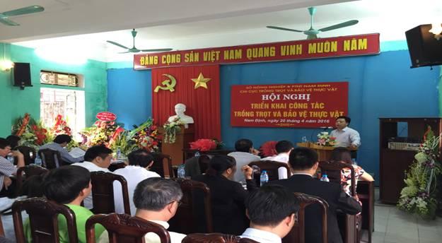 Đ/c  Đỗ Hải Điền - Phó Giám đốc Sở Nông nghiệp & PTNT phát biểu chỉ đạo Hội nghị