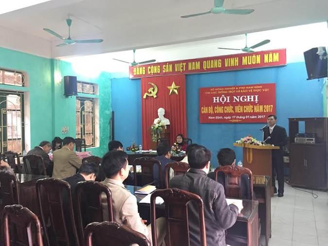 Đ/c Trần Ngọc Chính phát biểu tại Hội nghị